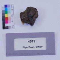 Image of 4072 - Pipe Bowl; Stone; Effigy; Face