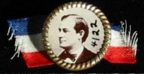 Image of 4122 - Button, Political; William Jennings Bryan