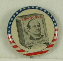 Image of 4123-2-(2) - Button, Political; William Jennings Bryan