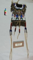 Image of 4364-179-(1) - Bag, Beaded; Leather; Strike-a-Light; Pouch