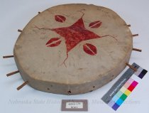 Image of 4364-215 - Drum, Round; 4 Point Star; Hoof Design
