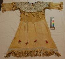 Image of 4364-263 - Dress, Buckskin; Girl's; Imitation Wampum