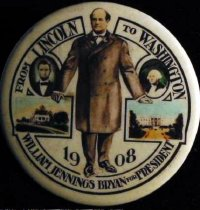 Image of 4392 - Button, Political; William Jennings Bryan