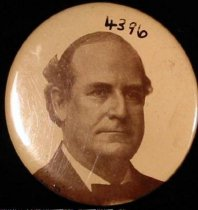 Image of 4396 - Button, Political; William Jennings Bryan