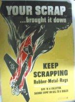 Image of 4541-789-(2) - Poster, World War II, Scrap