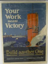 """Image of 4541-11 - Poster; World War I; """"Your Work Means Victory"""""""