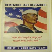 "Image of 4541-111 - Poster; World War II; Navy;  ""Remember Last December!"""