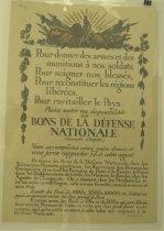 """Image of 4541-156 - Poster; World War I; French; """"Pour Donner Des Armes Et Des Ammunitions"""""""