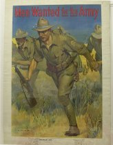 Image of 4541-20A-(1) - Poster; World War I; Recruiting; Men Wanted for the Army