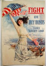 Image of 4541-25A - Poster, World War I, Fight or Buy Bonds