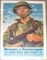 "Image of 4541-333 - Poster; World War II; ""Become a Paratrooper"""