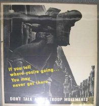 """Image of 4541-430 - Poster; World War II; Careless Talk; """"Don't Talk About Troop Movements"""""""