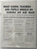 Image of 4541-663 - Poster, World War II; School Air Raid Instructions