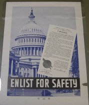 "Image of 4541-711 - Poster, World War II, ""Enlist for Safety"""