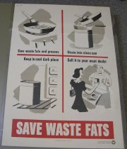 Image of 4541-746 - Poster, World War II, Save Waste Fats
