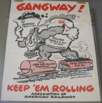 Image of 4541-757 - Poster, World War II, American Railroads
