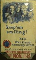"""Image of 4541-7a - Poster; World War II; """"Keep Em Smiling"""""""