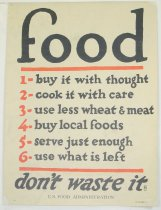 Image of 4541-85 - Poster, World War I, Food