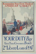 Image of 4733-20 - Poster, World War I, Remember Your First Thrill of American Liberty