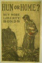 Image of 4733-39 - Poster, World War I, Hun or Home?
