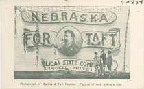 Image of 4984-1 - Postcard; William Jennings Bryan; Taft Banner Mutilated by Bryanites, Lincoln, July 8, 1908