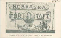 Image of 4984-2 - Postcard; William Jennings Bryan; Taft Banner Mutilated by Bryanites, Lincoln, July 8, 190