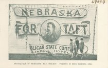 Image of 4984-3 - Postcard; William Jennings Bryan; Taft Banner Mutilated by Bryanites, Lincoln, July 8, 1908