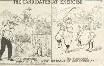 "Image of 4991 - Postcard; William Jennings  Bryan; ""The Candidates at Exercise"""