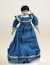 Image of 7010-1059 - Doll; Porcelain & Cloth; Woman