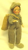 Image of 7010-176 - Doll; Plaster?; Man, Paddy of Aran, Ireland