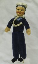 Image of 7010-187 - Doll; Cloth; Man; Bertie; British Armed Forces Sailor; Norah Wellings