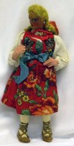 Image of 7010-227 - Doll; Papier Mache & Cloth; Girl; Anna of Poland; Kimport