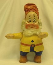 Image of 7010-274 - Doll; Cloth; Doc, Snow White and the Seven Dwarfs, (Disney); R. G. Krueger