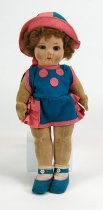 Image of 7010-377 - Doll; Cloth; Girl