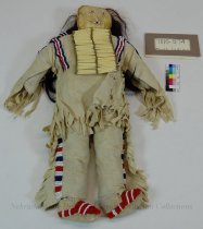 Image of 7010-574 - Doll, Indian, Sioux, Man; Cloth, Leather