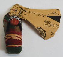 Image of 7010-591 - Doll; Composition; Indian with Cradleboard
