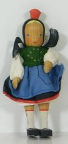 Image of 7010-714 - Doll; Wood; Girl; Germany