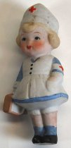 Image of 7010-919 - Doll; Bisque, Girl; Nurse