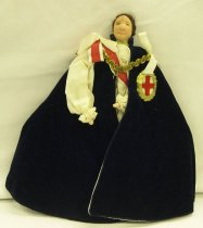 Image of 7010-98 - Doll; Cloth; Man; Knight of the Garter; Liberty of London