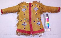 Image of 7069-246 - Shirt, Leather; Childs; Fringed; Beaded; Floral; Buffalo Heads