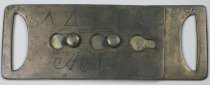 Image of 7135-121 - Buckle, Belt; 2 Pieces, Engineers Symbols, Initials a M