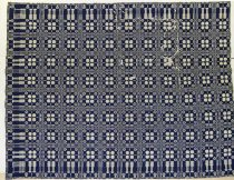 Image of 7174-52 - Coverlet, Double Weave; Four Snowballs and Four Roses