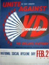 "Image of 7294-971 - Poster, World War II, Social Hygiene ""Unite the Whole Community Against Venereal Disease"""