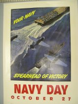 Image of 7294-1370-(3) - Poster, World War II; Navy Day; John Falter