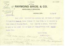 Image of 7294-3222 - Letter, Raymond Bros. Clarke Co.