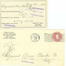 Image of 7294-3262-(1-2) - Envelope, Beachly Brothers Grocery - Receipt Enclosed