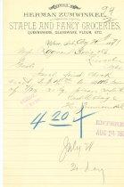 Image of 7294-3287 - Receipt, Grocery, Herman Zumwinkle