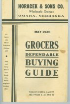 Image of 7294-3899 - Booklet, Horacek and Sons Co., Omaha, Grocers Dependable Buying Guide