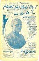 Image of 7294-5463 - Sheet Music, How Do You Do? USA?; To Gen. John Pershing