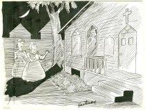 Image of 7294-7016 - Cartoon, Belmont Apparition, Emanuel Baptist Church; 1939 Almanac for Nebraskans